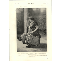 1905 Lina Ashwell And Scenes From Leah Kleschna At The New Theatre