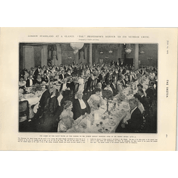 1905 Savoy Hotel Dinner To Mr Joseph Knight Presided Over By Sir Henry Irving