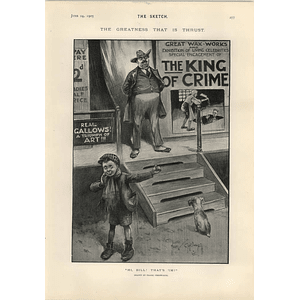 1905 Frank Chesworth Cartoon Waxworks King Of Crime John Hassall London Season