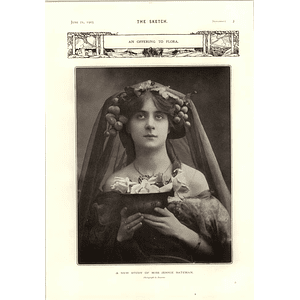 1905 Miss Jenny Bateman Photograph And Offering To Flora