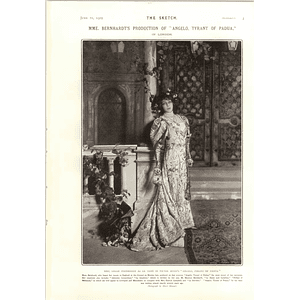 1905 Sarah Bernhardt As La Tisbe Victor Hugo Angelo Tyrant Of Padua
