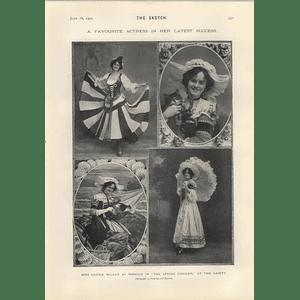 1905 Miss Gertie Miller As Rosalie Spring Chicken Miss Elaine Inescort Understudy