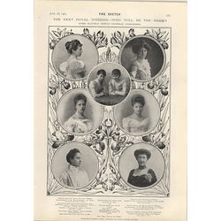 1905 Eligible Roman Catholic Princesses Frank Spenlove-spenlove Honoured By France