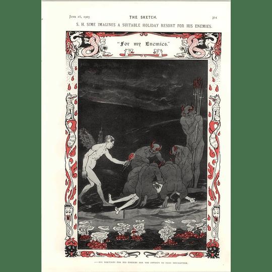 1905 Sh Sime Tortures For His Enemies Hm Brock Self Treatment Cartoon