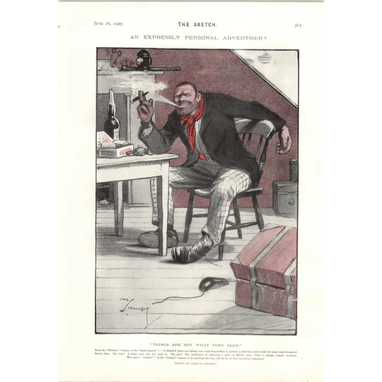 1905 Charles Crombie Personal Advert From Daily Express Signor Sleightof Andi