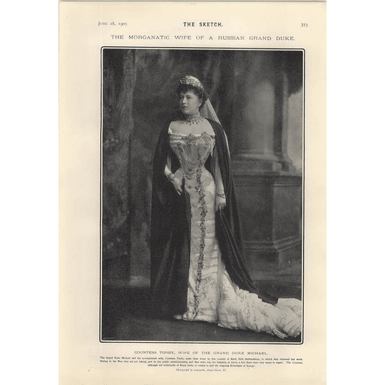 1905 Countess Torby Wife Of Grand Duke Michael Adrienne Lecouvreur