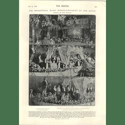 1905 Sensational £3000 Gondola Banquet Savoy Theatre Mr Kessler