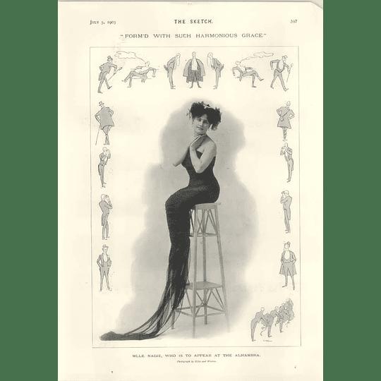 1905 Mlle Nadje Harmonious Graceful Figure Lawson Wood Unemployed Walker