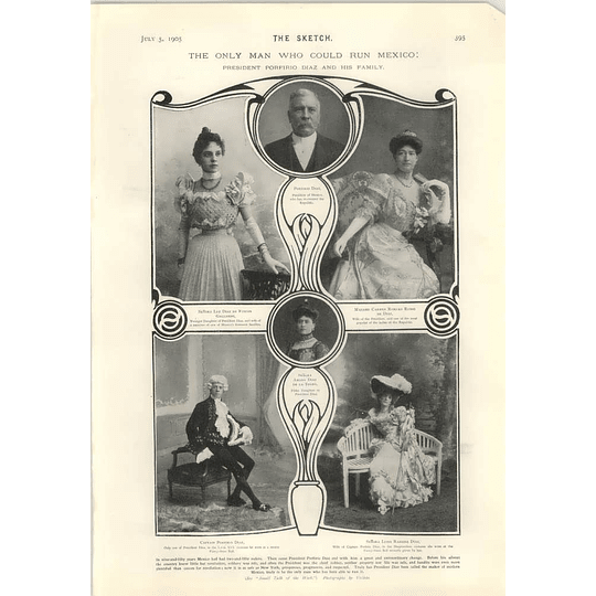 1905 Pres Porfirio Diaz Only Man To Run Mexico And His Family