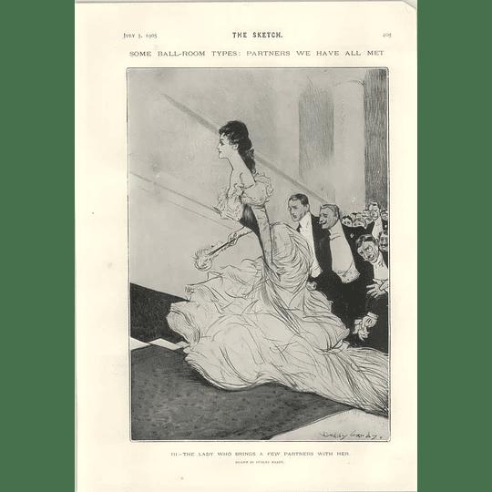 1905 Ballroom Lady Bringing A Few Partners Nellie Blissett Short Story