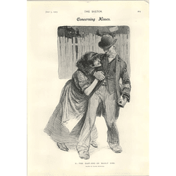 1905 The East End, Or Mauly Kissing Style Walter Grogan Short Story