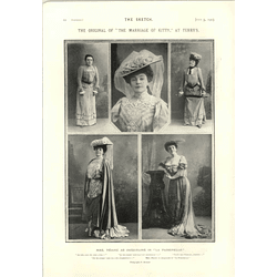 1905 Mme Rejane As Jacqueline In La Passerelle Eight Henley Regatta Crews