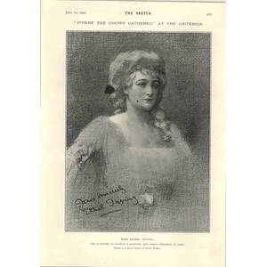 1905 Miss Ethel Irving At The Criterion Miss Ada Webster