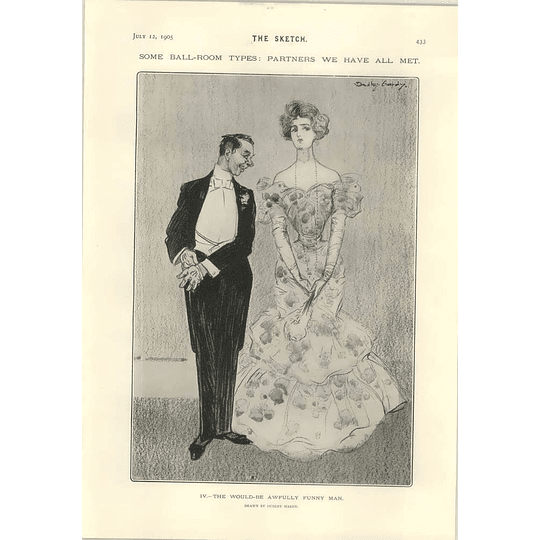 1905 Dudley Hardy Ballroom Type The Would Be Awfully Funny Man