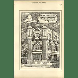 1894, Brough Nicholson Hall Warehouse Cross St Well St Leek, Sugden Architect