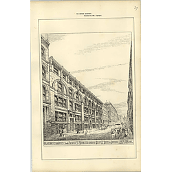 1885, Warehouse And Offices Faulkner Street Manchester E D Milnes