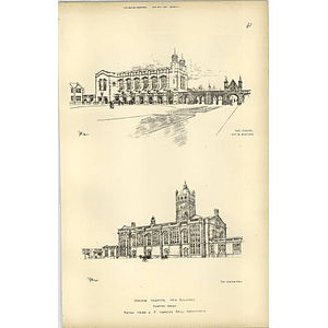1894, Christ's Hospital New Buildings Accepted Designs Webb, Bell