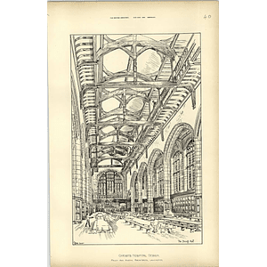 1894, Christ's Hospital Design, The Dining Room, Raffles Davison, Paley Austin