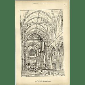 1894, Christ's Hospital Design Of The Chapel, Paley Austin