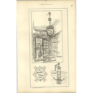 1888, Cutler's Hall, T Tayler Smith, Vestibule, Hall Pendant