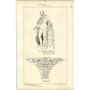 1886, Constitutional Club, Marquess Of Abergavenny Statue,