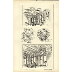 1886, Constitutional Club, Morning Room, Coffee Room, Ceiling