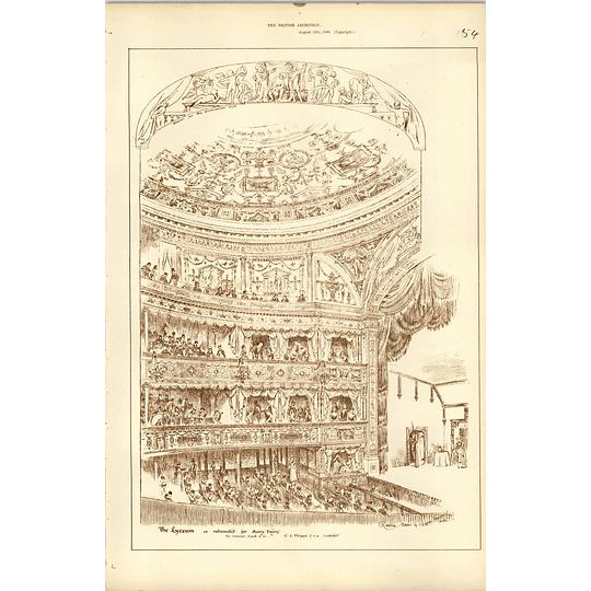 1886, The Lyceum Has Redecorated For Henry Trying