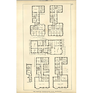 1889, The Scottish Conservative Club Edinburgh Floorplans, Anderson