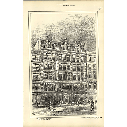 1886, New Building In Glasgow For Wylie Lochhead Cabinetmakers