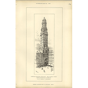 1889, Greenock Municipal Buildings, The Victoria Tower Hd Barclay Architects