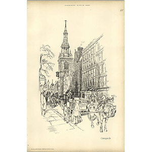 1893, Sketch From The Pavement Of Cheapside By Raffles Davison