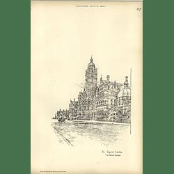 1893, The Imperial Institute,collcutt, Sketch By Raffles Davison