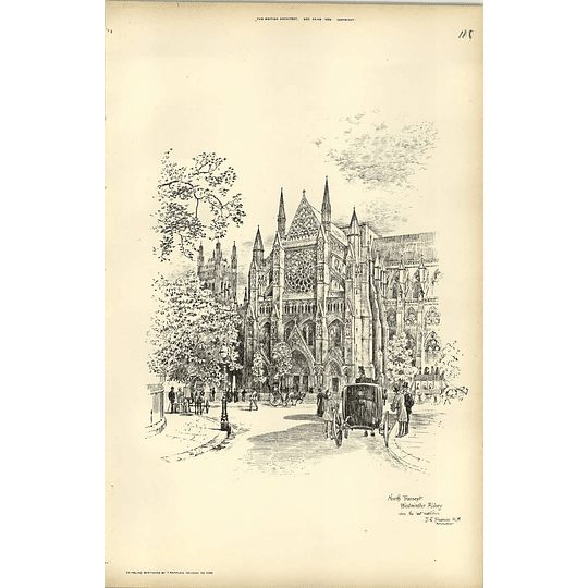 1893, North Transept, Westminster Abbey Since Restoration Pearson Architect
