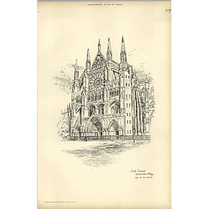 1893, North Transept Westminster Abbey Before Last Restoration