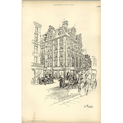 1893, Street Sketch In Piccadilly By Raffles Davison
