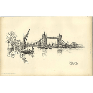 1893, The Tower Bridge Sketched By Raffles Davison, Sir Horace Jones Architect