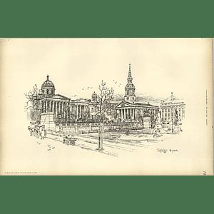 1893, Trafalgar Square Sketched By T Raffles Davison