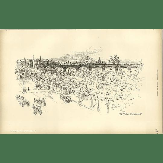 1893, Victoria Embankment Sketched By Raffles Davison