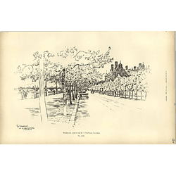 1893, The Embankment With New Scotland Yard Building Sketched By Raffles Davison