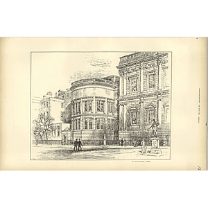 1893, The View In Whitehall Yard Sketched By Raffles Davison