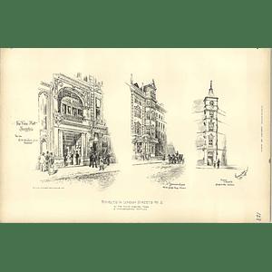 1892, Fine Art Societies, 41 Grosvenor Square, Mount Street Sketched R Davison