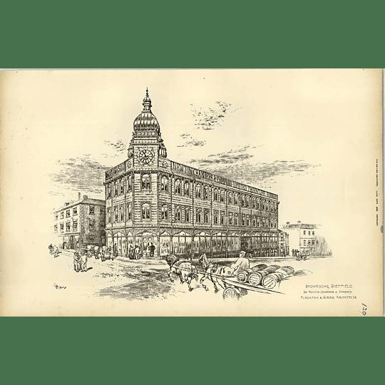 1893, Newton Chambers Thorncliffe Ironworks Showroom Sheffield Flockton Gibbs