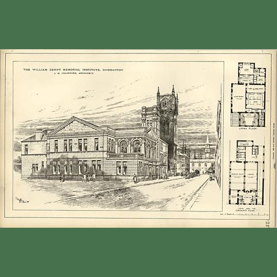 1890, William Denny Memorial Institute Dumbarton, Jn Crawford Architect