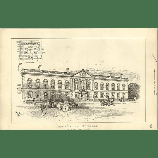 1891, Chelsea Polytechnic Accepted Design Jm Brydon