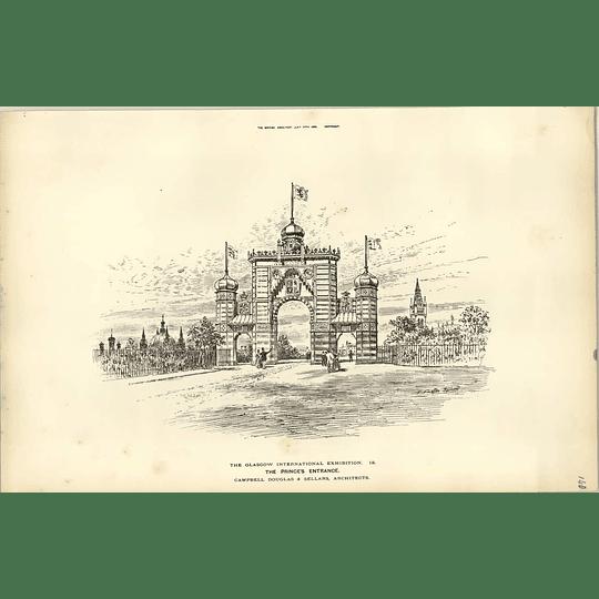 1888, Glasgow Exhibition, The Princes Entrance, Campbell Douglas Sellars