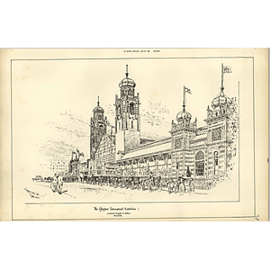 1888, Glasgow Exhibition, Magnificent Sketch With Carriages, Raffles Davison