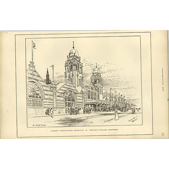 1888, Glasgow Exhibition, Principal Entrance, Horse-drawn Tram, Carriages