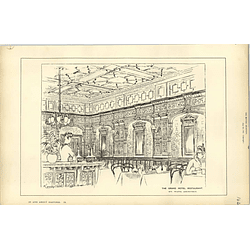 1887, The Grand Hotel Restaurant, Henry Ward Architect
