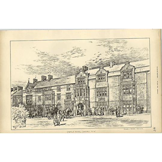 1894, Castle Hotel, Conway North Wales As Remodelled Douglas Fordham