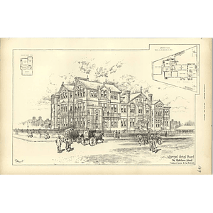 1894, The Rathbone School, Liverpool Board, Mellard Reade, Sketch And Plans